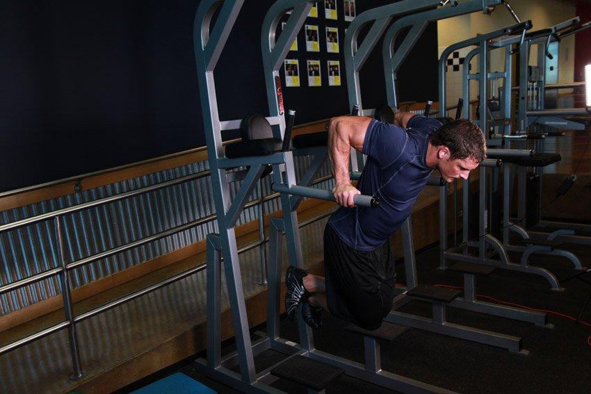 3 Упражнения на брусьях — отжимания