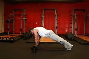 Штанга в качестве гимнастического ролика, позиция 1