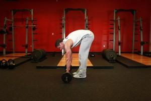 Штанга в качестве гимнастического ролика, позиция 0