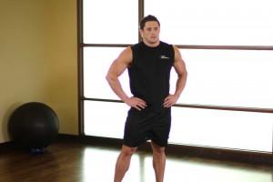 Растягивание мышц шеи в стороны, позиция 0