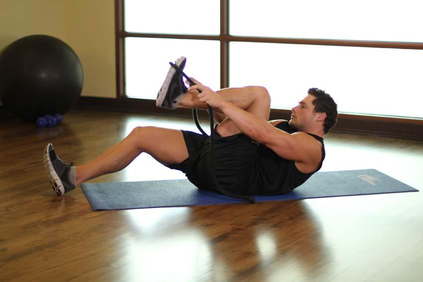 растяжение мышц икры ног