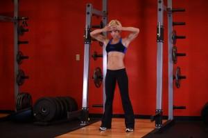 Плиометрическое упражнение на укрепление мышц шеи, позиция 0
