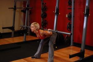 Упражнение «Доброе утро» с прямыми ногами, позиция 1