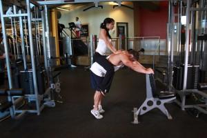 Упражнение «ослик», позиция 1