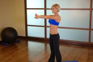 Растяжка мышц спины, позиция 0
