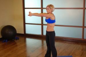 Растяжка мышц спины, позиция 1