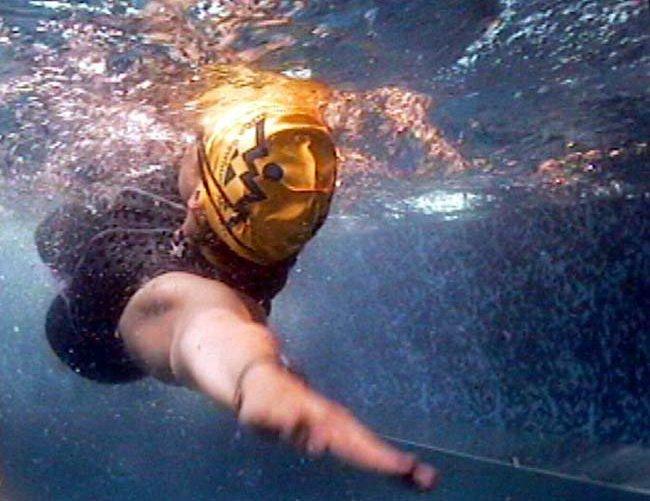 Плавание на спине, позиция 3