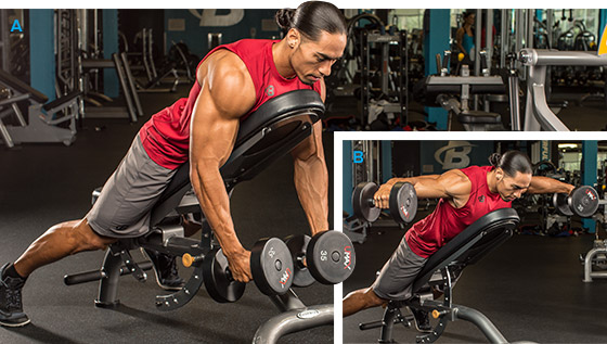 Dumbbell Y Raise on Incline Bench
