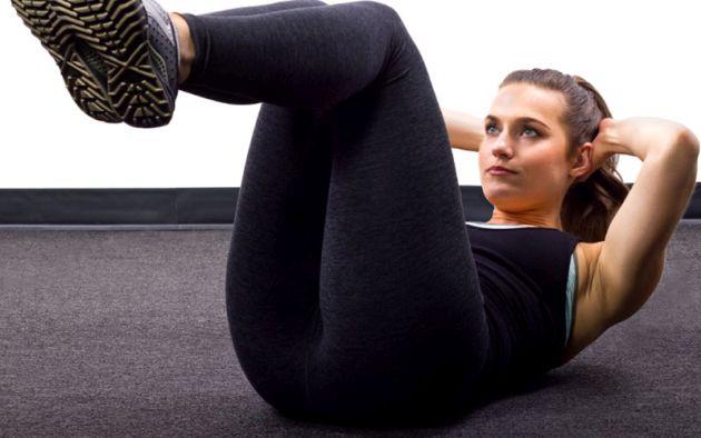 30-дневная программа тренировок для девушек. Скручивания