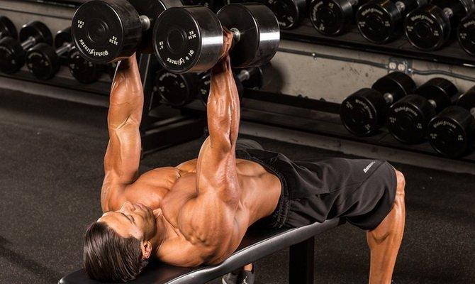 Жим гантелей лежа нейтральным хватом: работающие мышцы и техника выполнения