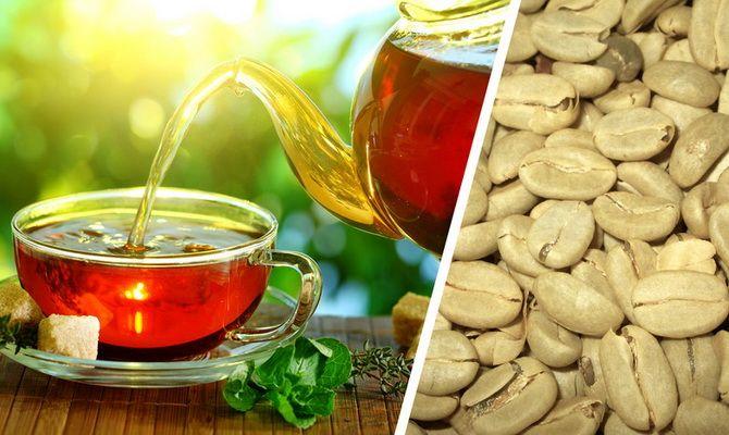 Кофе с зеленым чаем для похудения