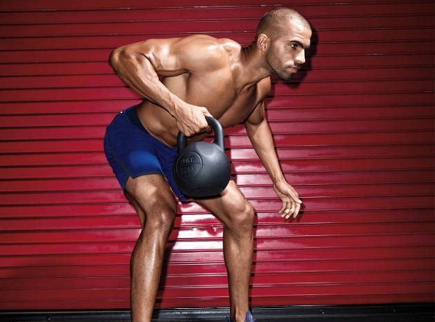 тренировка с гирями на силу и мышечную массу