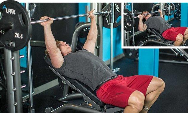 простая тренировка верха груди